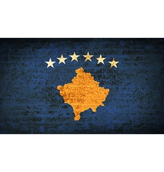 Flags Kosovo with dirty paper texture vector image