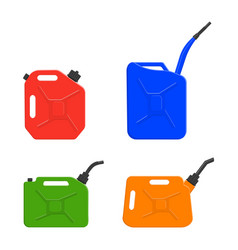 Fuel canisters gasoline cans petrol containers vector