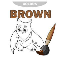 funny cartoon character owl isolated vector image