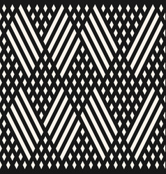 Geometric seamless pattern with diagonal lines vector