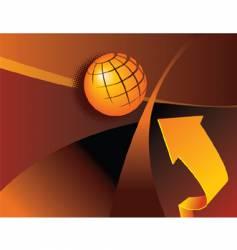 globe arrow vector image