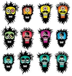 Halloween ghost bizzare skull design vector