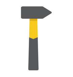 hammer flat icon build and repair tool sign vector image