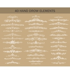 Hand-drawn calligraphy dividers vector image