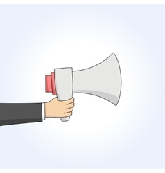 Hand with megaphone vector