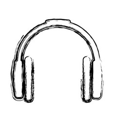 Headset device icon vector