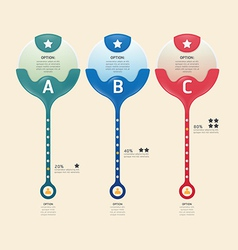 Infographic banners set number modern design vector image