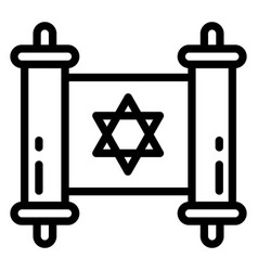 jewish papyrus icon outline style vector image