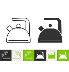kettle simple black line icon vector image