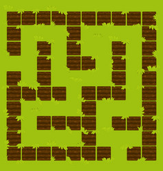 labyrinth education logic game garden beds ground vector image