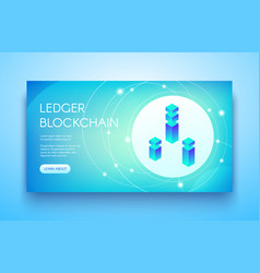 Ledger blockchain ico vector