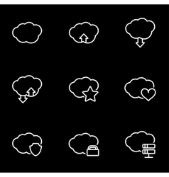 line cloud icon set vector image
