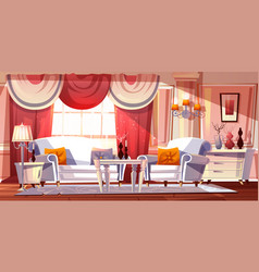 lounge room luxury interior vector image