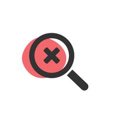 Magnifying glass looking for a lapse isolated web vector