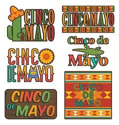 Mexican emblems vector