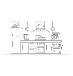 Modern kitchen design vector