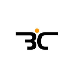 modern logo solution letter bc vector image