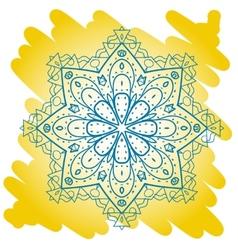 Oriental mandala motif mehndi paint karma vector