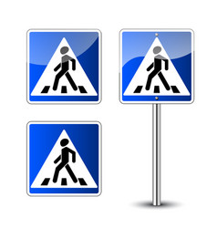 Pedestrian crossing signs vector
