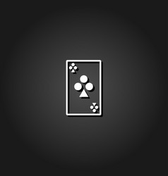 playing cards icon flat vector image