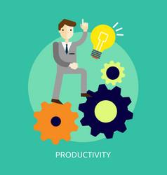 Productivity conceptual design vector
