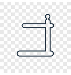 Pull up bar concept linear icon isolated on vector