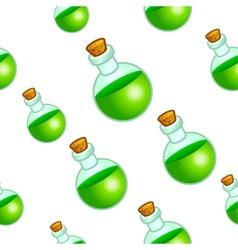 Round botle background vector image