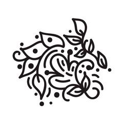 Scandinavian monoline flourish monogram vector