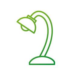 school lamp bulb light electrical element vector image