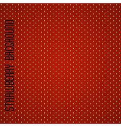 Seamless strawberry pattern background vector image vector image