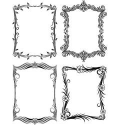Set of frames for your design vector