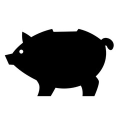 Silhouette piggy bank motives piggybacking vector