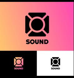 Sound logo musical acoustics logo on different ba vector