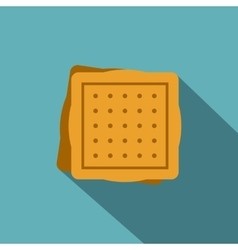 Square cookies icon flat style vector