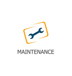 square maintenance logo vector image
