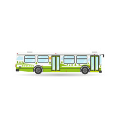 transportation city transit eco bus vehicle icon vector image