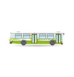 Transportation city transit eco bus vehicle icon vector