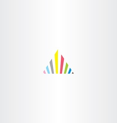 triangle colorful icon tech logo business design vector image