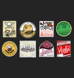 vintage american badge absintequila vodka vector image