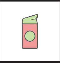 women lubricating gel or female lubricant icon vector image