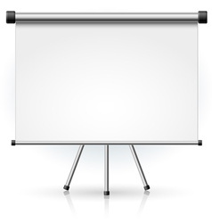 blank portable projection screen vector image
