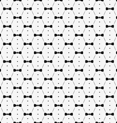 Bow tie with buttons and shirt seamless pattern vector image