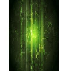 Dark green hi-tech design vector image vector image