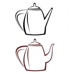 kettle teapot vector image vector image