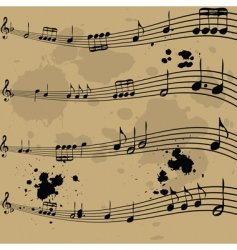 music notebook vector image vector image