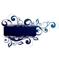 blue flowery vector image