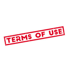 terms of use rubber stamp vector image vector image