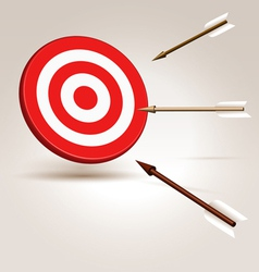 Arrows flying to target vector image