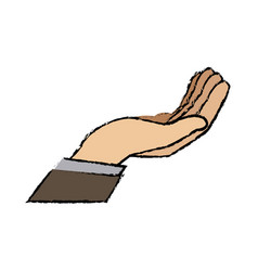 cartoon business man hand gesture help vector image vector image