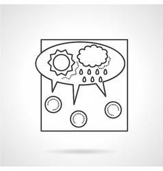 Crowdsourcing line icon vector image vector image